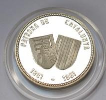 Katalónia védőszentje 1881-1981 emlékérme