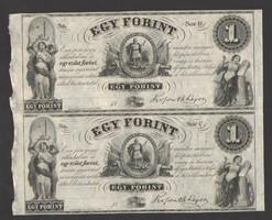 "1 forint 1852. ""B, C"".  EGY ÍVEN!!   RITKA!!  UNC!!"