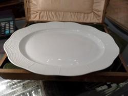Fehér / festetlen herendi pecsenyés tál  nagy méret