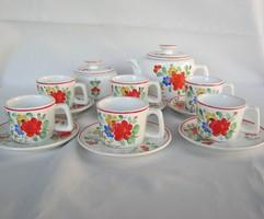 Gránit kerámia kézzel festett virágos kávéskészlet