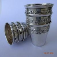 Ezüst likőrös &vodkás pohár,