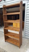 Eladó IKEAS antik pácolású fenyő polc.(LEKSVIK) Bútor szép, újszerű állapotú.