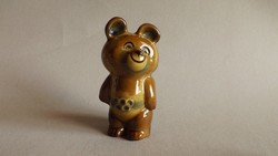 Misa olimpiai mackó porcelán figura