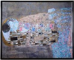 Gusztav Klimt osztrák reprodukció, fém keretben, 72x57 cm