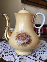 Antik nagy méretű biedermeier teás kanna kancsó B F M jelzéssel