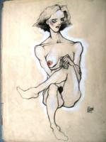 Egon Schiele: Hat ujjú női akt