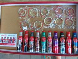 Coca Cola mini palack kulcstartó szett 10db-os