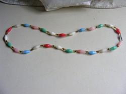 Retro színes műanyag bizsu nyaklánc