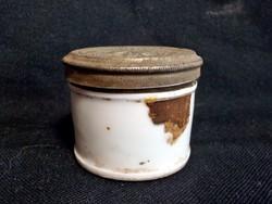 Antik porcelán tégely - Vukovar Felix Kirchbaum Apotheker - Gold Stern