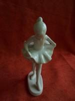 Jelzetlen hollóházi porcelán fehér kis balerina
