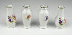 0R594 Hollóházi porcelán ibolya váza 4 darab