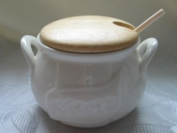 Ritkaság! Knorr porcelán sótartó, gulyástál