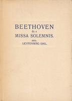Lichtenberg Emil: Beethoven és a Missa Solemnis. (RITKA kötet) 2500 Ft