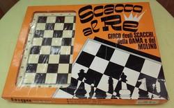 Olasz retro Sakk-Malom játék