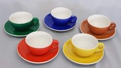 Ritka Zsolnay retro színes kávés csészék