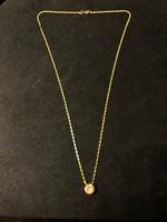 Arany nyakék gyémántal