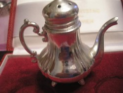 Ezüstözött teafű tartó magas  6 cm-es  kanna