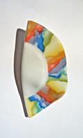 Seltmann Weiden színes porcelán bross