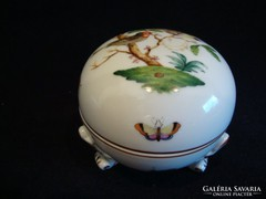 Herendi Rothschild porcelán háromlábú bonbonier
