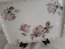 Rózsás tálca 22x16 cm
