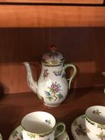 Herendi Q Victoria porcelán kávéskészlet kávés készlet