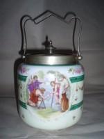 Antik altwien porcelán cukortartó