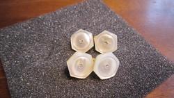 ART-DECO  dupla gyöngyház  kézelőgomb-pár