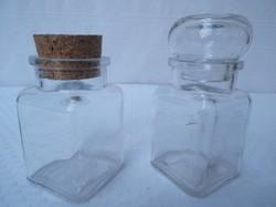 Üveg - 2 darab teás üveg  12 x 6 x 6 cm - hibátlan