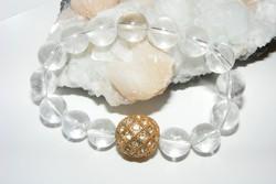 Hegyikristály és Swarovski kristály karkötő klasszikus elegancia.