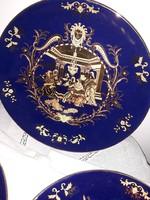 Kobaltkék-arany kistányérok 20 cm