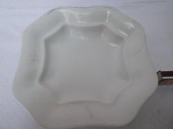 Tál - JELZETT - porcelán - Osztrák - régi  25 x 5 cm - hófehér - hibátlan - karcmentes