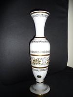Bohemia opálüveg váza díszdobozban (31cm)