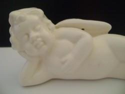 Antik, thüringiai majolika porcelán puttó