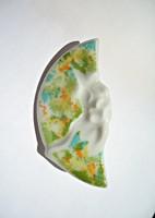 Seltmann Weiden hullámos  színes porcelán bross