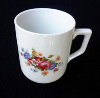 Zsolnay antik ibolyás tavaszivirágos csésze