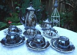 Bavaria Feinsilber ezüstözött mokkás készlet