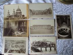 VITANGE EREDETI KEMÉNYHÁTÚ CVD 7 DARABOS FOTÓ GYÜJTEMÉNY PÁRIZS ca 1860