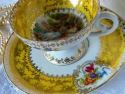 Antik Alt Wien porcelán mokkás szett, csésze és alj
