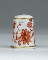 0S095 Hollóházi porcelán gyűszű SC/B