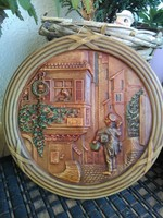 Jelenetes kerámia falikép