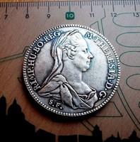 MÁRIA THERESIA EZÜST TALLÉR 1780 U. V.