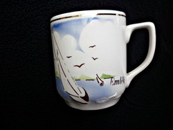 Gránit Balatonfüredi ritka emlék csésze