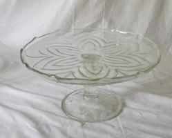 Régi üveg torta tartó