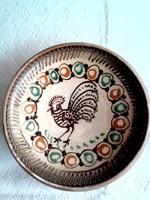 Kakasos kerámia tányér, falitányér