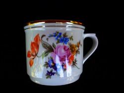 Nagy retró virágos kakós csésze