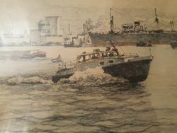 Kis magyar hajó a nemzetközi vizeken 1940