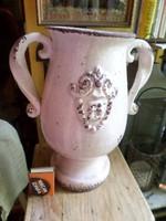 Tökéletes állapotú , kerámia váza . Nosztalgia termék , nem régi . 25 cm magas , 20 cm széles
