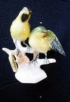 Régi Volkstedter porcelán madárpár nipp