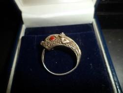 Zománcozott ezüst gyűrű