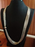 Különleges ezüst 16 vékony soros nyaklánc